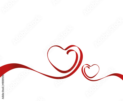 Liebe Herz Schleife Valentinstag Stockfotos Und Lizenzfreie