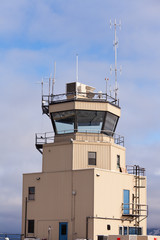 Small air traffic control tower big glass windows