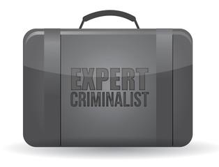 expert criminalist suitcase