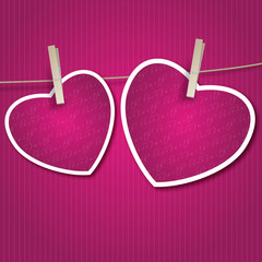 Two Hearts for Valentine's Day Card