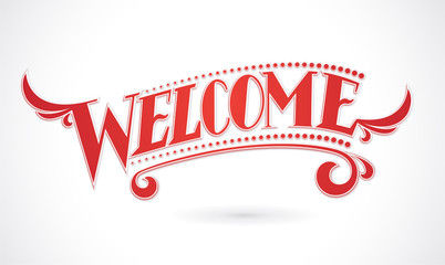 Welcome Lettering vector design