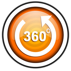 360 degrees panorama icon