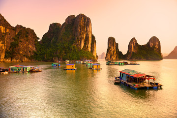 Halong Bay, Vietnam. Unesco World Heritage Site.