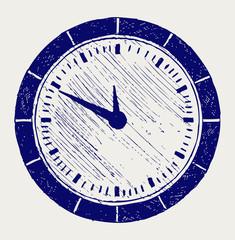 Clock. Doodle style