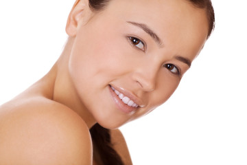 face woman with healthy clean skin
