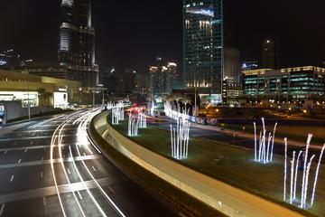 Traffic near the dubai Mall stillimage