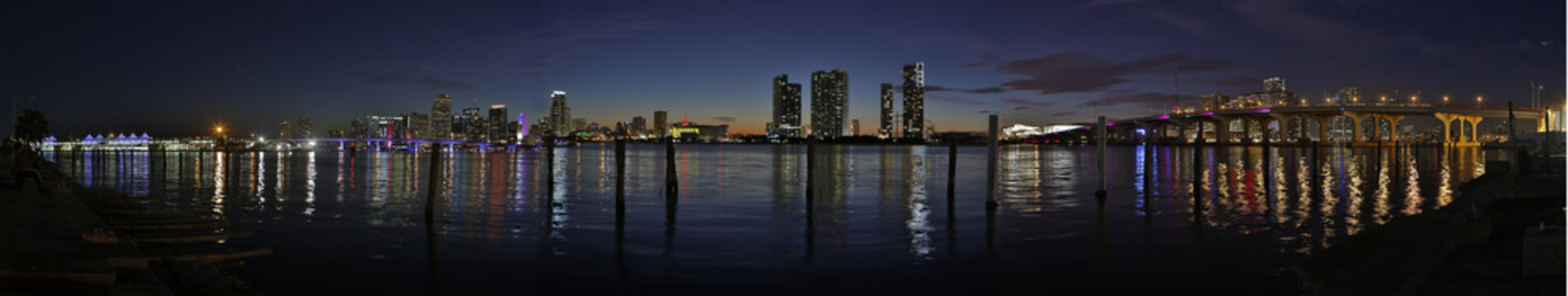 Downtown Miami hdr panorama