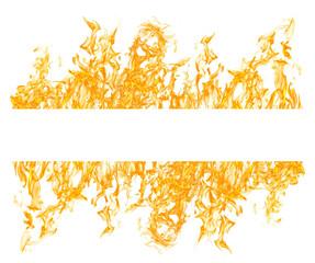 white stripe in yellow fire