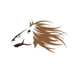 Vector logo horse