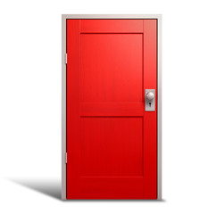 Red Door And Door Frame