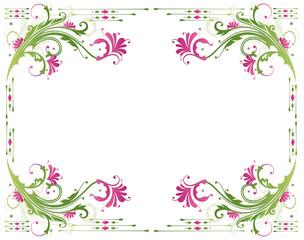 Frühling, Rahmen, Blätter, Laub, Ranke, Grüntöne