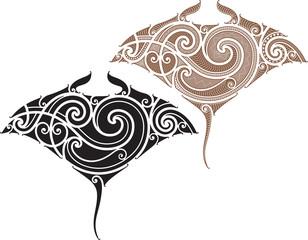 Maori Manta tattoo design