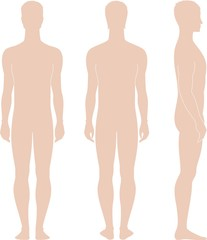 Vector illustration of man's figure
