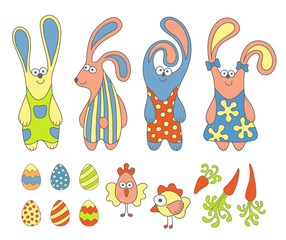 Cartoon Easter set