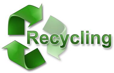 recycling schriftzug