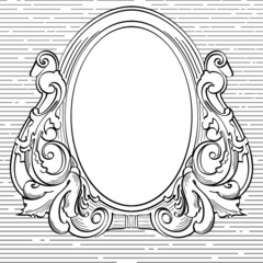 vintage frame . element for design