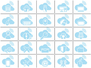 ICONS CLOUD COMPUTING BLUE