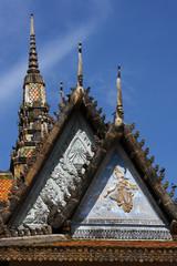 Linteaux de la pagode aux cent piliers