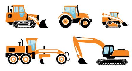 Heavy machines set