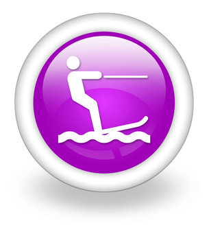 """Violet Icon """"Water Skiing"""""""