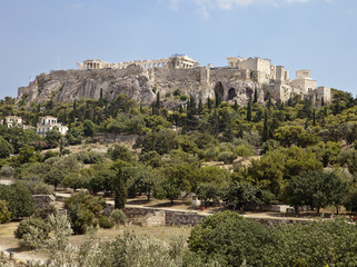 Acropolis From The Athens Agora