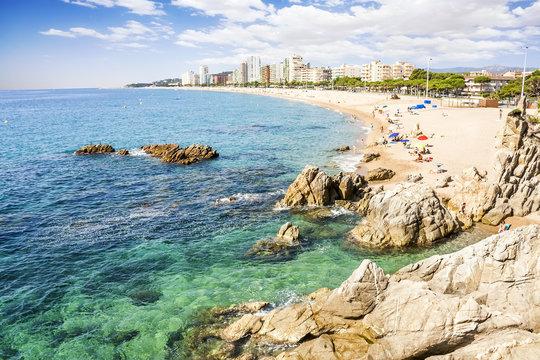 Platja d'Aro beach, a well known tourist destination (Costa Brav