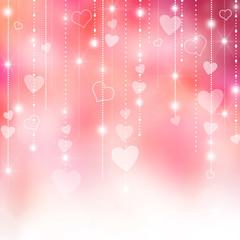 Pink Valentine's hearts background