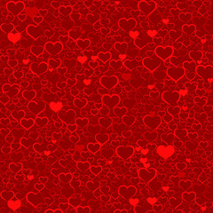 Colorful Valentine's day background with hearts, vector