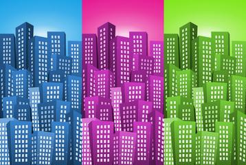 Cityscape Backgrounds Set