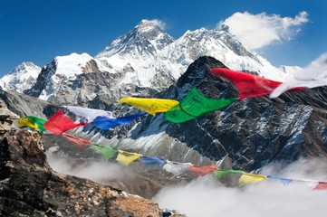 Foto auf Acrylglas Nepal view of everest from gokyo ri