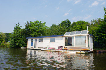 Houseboat at the river