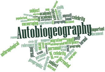 Word cloud for Autobiogeography