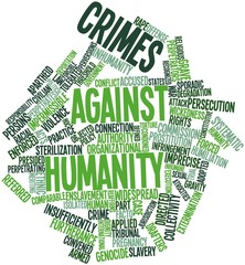 Word cloud for Crimes against humanity