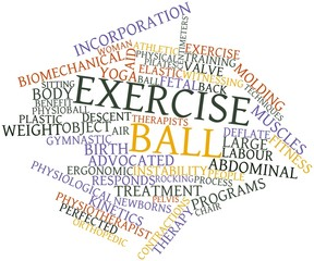 Word cloud for Exercise ball
