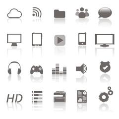 apps et smartphones - icones d'applications pour smartphone