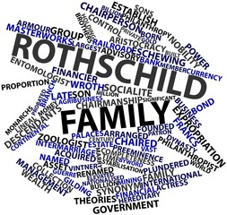 Word cloud for Rothschild family