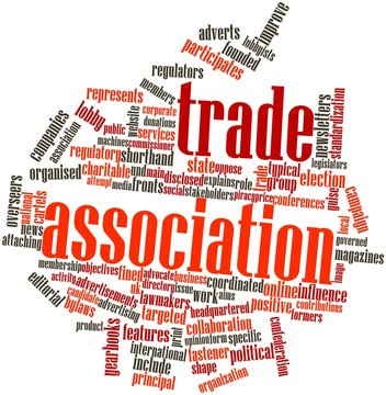 Word cloud for Trade association
