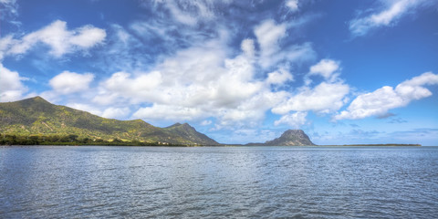Beautiful landscape of Mauritius