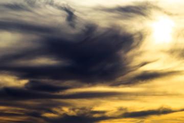 dramatic dark cloudy sunset
