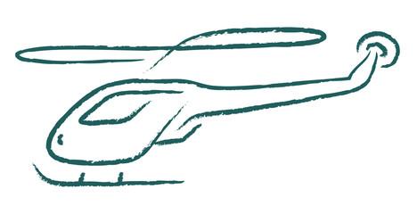 helicopter illustration sketch