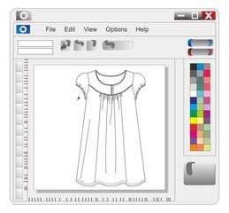 application window clothing