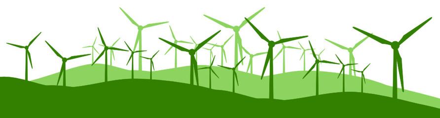 Aluminium Prints Green Windpark