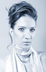 Portrait of the beautiful elegant lady
