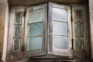 window in an old building