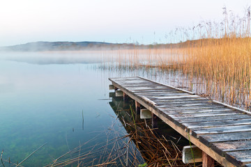 Irish lake before sunrise Wall mural