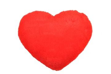Fototapeta Czerwone pluszowe serce obraz