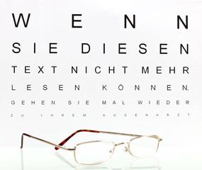 Sehschärfe Optiker