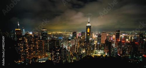 страны архитектура ночь Гонконг  № 1481727  скачать