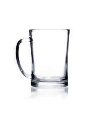 Coctail glass set. Beer mug on white