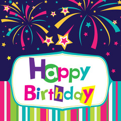 vector happy birthday card